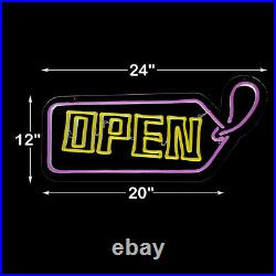 LED Light Strip Business Signs Logo OPEN for Store Bar Hotel Xmas Decor US