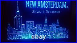LED Lighted Bar Sign New Amsterdam Vodka 3 FT X 2 FT RARE LIQUOR STORE SIGN