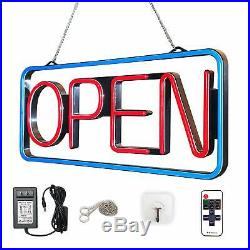 LED Open Sign Bundle Business Bar Store Bright Color Neon Flashing Light Display