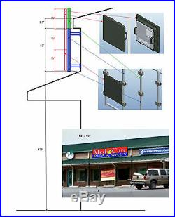 LED P10 3'x10' programable electronic digital sign for store front