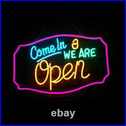 LED Rope Lights Signs Come in, We are Open for Store Hotel KTV Decor US