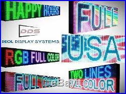 LED SIGNS OPEN NEON FULL COLOR 12 x 50 OUTDOOR BUSINESS SHOP STORE DISPLAY