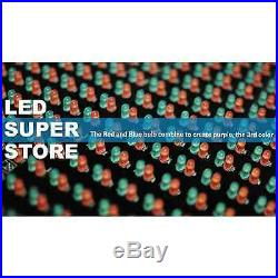 LED SUPER STORE 3C/RBP/IR/2F 19x102 Programmable Scroll. Message Display Sign