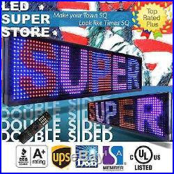 LED SUPER STORE 3C/RBP/IR/2F 22x117 Programmable Scroll. Message Display Sign