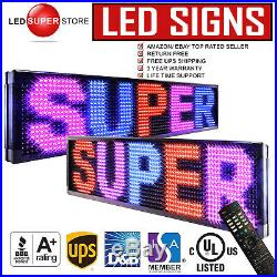 LED SUPER STORE 3C/RBP/IR/2F 22x60 Programmable Scroll. Message Display Sign