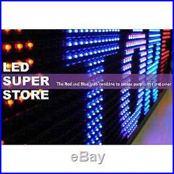 LED SUPER STORE 3C/RBP/PC/2F/AP 12x117 Programmable Scroll Message Display Sign