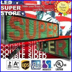 LED SUPER STORE 3C/RGY/IR/2F 12x98 Programmable Scroll. Message Display Sign