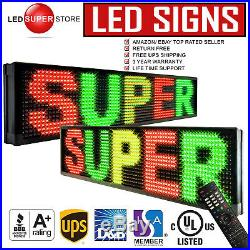 LED SUPER STORE 3C/RGY/IR/2F 19x184 Programmable Scroll. Message Display Sign