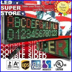 LED SUPER STORE 3C/RGY/IR/2F 22x117 Programmable Scroll. Message Display Sign