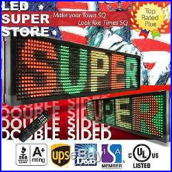 LED SUPER STORE 3C/RGY/IR/2F 22x155 Programmable Scroll. Message Display Sign