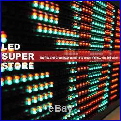 LED SUPER STORE 3C/RGY/IR/2F 28x103 Programmable Scroll. Message Display Sign
