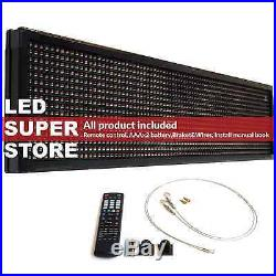 LED SUPER STORE 3C/RGY/IR/2F 36x102 Programmable Scroll. Message Display Sign