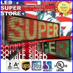 LED SUPER STORE 3C/RGY/IR/2F 36x52 Programmable Scroll. Message Display Sign