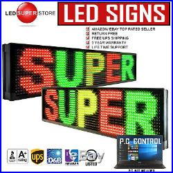 LED SUPER STORE 3C/RGY/PC/2F/AP 19x118 Programmable Scroll Message Display Sign