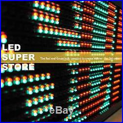 LED SUPER STORE 3C/RGY/PC/2F/AP 19x52 Programmable Scroll Message Display Sign