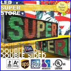 LED SUPER STORE 3C/RGY/PC/2F/AP 28x141 Programmable Scroll Message Display Sign