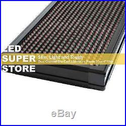 LED SUPER STORE 3C/RGY/PC/2F/AP 28x91 Programmable Scroll Message Display Sign