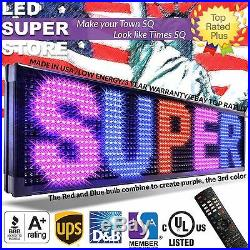LED SUPER STORE 3COL/RBP/IR 15x53 Programmable Scrolling EMC Display MSG Sign