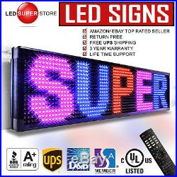 LED SUPER STORE 3COL/RBP/IR 40x98 Programmable Scrolling EMC Display MSG Sign