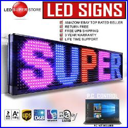LED SUPER STORE 3COL/RBP/PC 19x151 Programmable Scrolling EMC Display MSG Sign