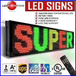 LED SUPER STORE 3COL/RGY/IR 12x60 Programmable Scrolling EMC Display MSG Sign