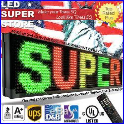LED SUPER STORE 3COL/RGY/IR 12x69 Programmable Scrolling EMC Display MSG Sign
