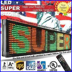 LED SUPER STORE 3COL/RGY/IR 22x174 Programmable Scrolling EMC Display MSG Sign