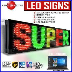 LED SUPER STORE 3COL/RGY/PC 12x50 Programmable Scrolling EMC Display MSG Sign