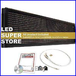 LED SUPER STORE 3COL/RGY/PC 12x69 Programmable Scrolling EMC Display MSG Sign