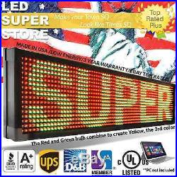 LED SUPER STORE 3COL/RGY/PC 40x91 Programmable Scrolling EMC Display MSG Sign