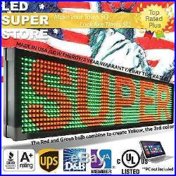 LED SUPER STORE 3COL/RGY/PC 41x50 Programmable Scrolling EMC Display MSG Sign