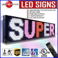 LED SUPER STORE 3COL/RWP/IR 12x50 Programmable Scrolling EMC Display MSG Sign