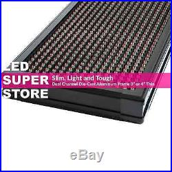 LED SUPER STORE 3COL/RWP/IR 15x128 Programmable Scrolling EMC Display MSG Sign