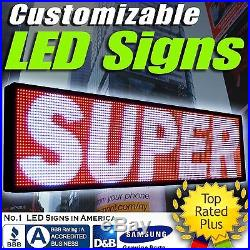 LED SUPER STORE 3COLOR 12 Tall Programmable Scrolling EMC Display MSG Sign