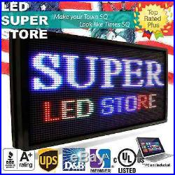 LED SUPER STORE Full Color 21x60 Programmable MSG. Scrolling EMC Outdoor Sign