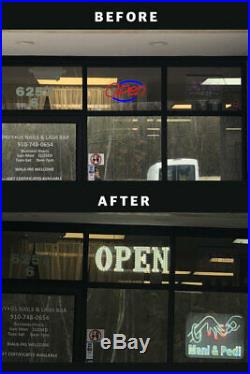 LED Store OPEN Business Sign Ultra Bright Medium (15x43)