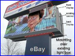 LED programable electronic sign/ billboard for store front, 6'x10' Pitch 20 mm