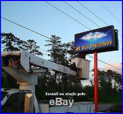 LED programmable electronic sign/billboard for store front, Pitch 16 mm 5'x9