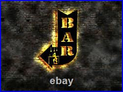 LED wall sign Bar arrow beer neon no metal sticker store Emblem Logo
