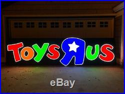 Large Toys R Us Store Front Sign Led Light Up Advertising Display Toysrus