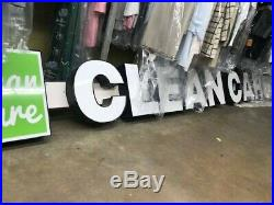 Led Illuminated channel letters sign front store, business TWO SETS