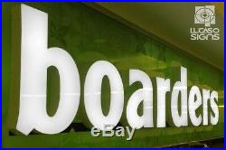 Led Illuminated custom channel letters sign front store, business. 24 height