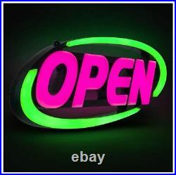 Led Open Sign Business Neon Flash Store Signs Programmable App 15x32 Inch Bright