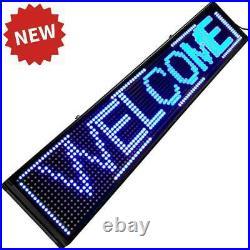 Led Sign 40 x 8 Store Business Digital Sign Blue Color Indoor