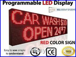 Led Signs Scrolling Still Message Display 12 X 63 Neon 10mm Red Store Board