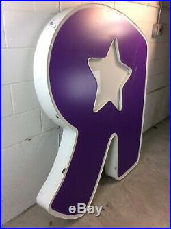 MASSIVE Toys R Us Sign Store Front Led Light Up Advertising LETTER R BABIES R US