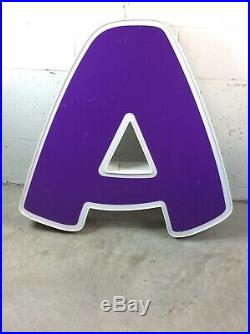 MASSIVE Toys R Us Store Front Led Light Up Advertising LETTER (A) BABIES R US