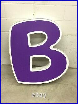 MASSIVE Toys R Us Store Front Led Light Up Advertising LETTER (B) BABIES R US