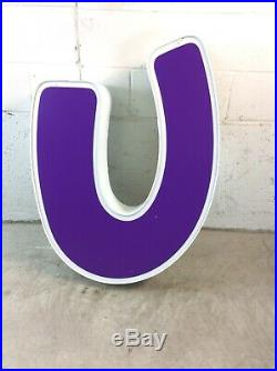 MASSIVE Toys R Us Store Front Led Light Up Advertising LETTER (U) BABIES R US