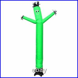MOUNTO 10ft Inflatable Dancer Waving Tube Man Puppet for Store Sign Green